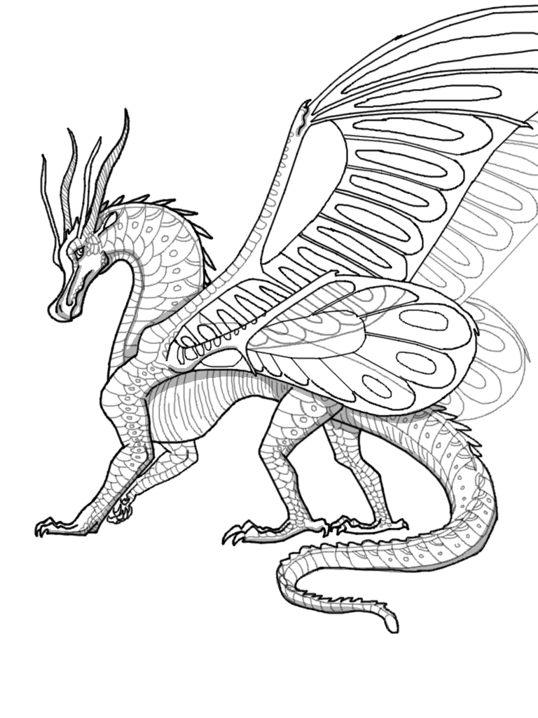 Coloring Pages Transparent Silkwing Lineart Wings Of Fire Wiki Fandom Coloring Pages Latest Image 49 Wings Of Fire Coloring Pages Image Inspirations Off The Wall Atl Coloring Home