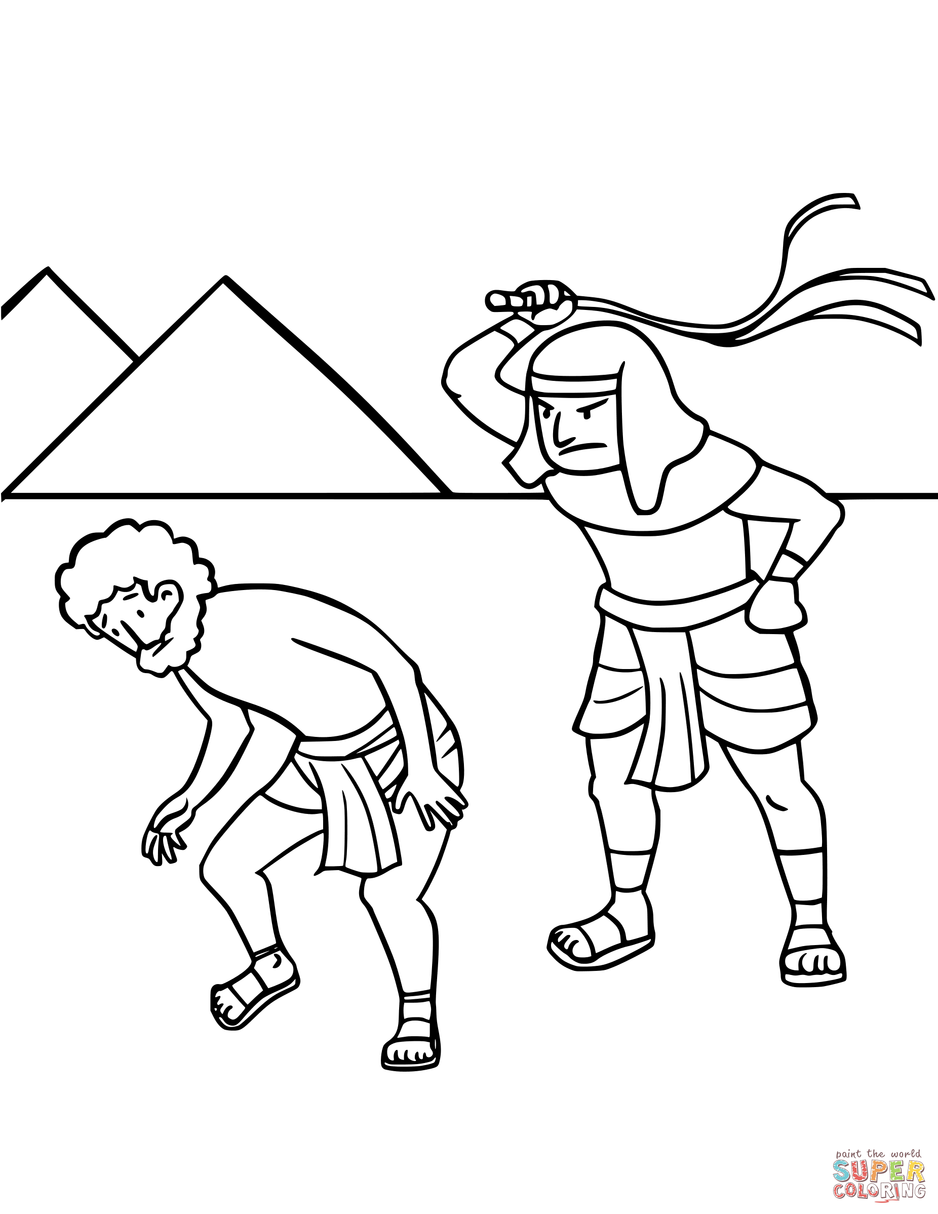 Israel's Enslavement in Egypt coloring page | Free Printable Coloring Pages