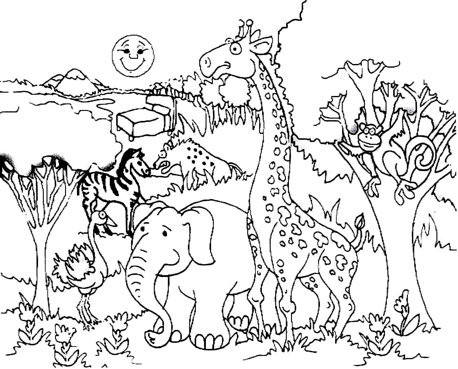 Savanna Coloring Pages Coloring