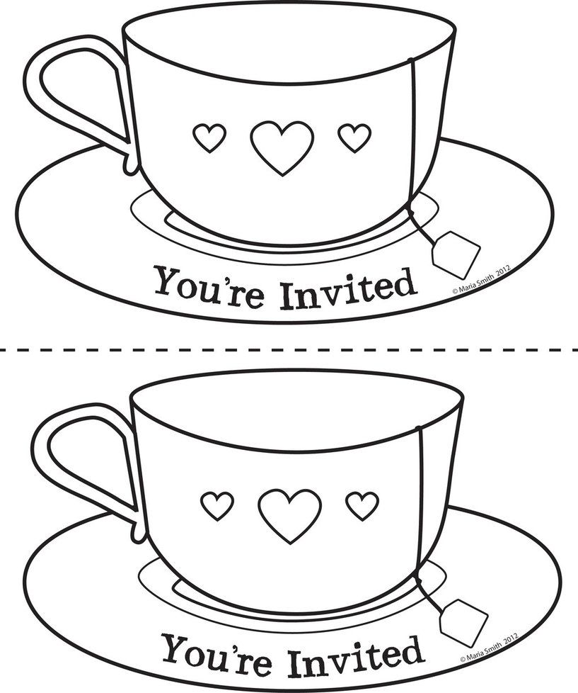 It's just a picture of Massif Teacup Coloring Pages