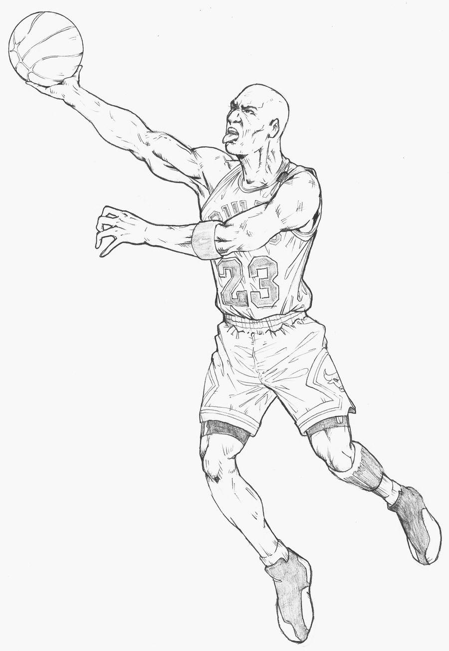 Michael Jordan Coloring Pages Michael Jordan Dunking Coloring Pages  High Quality Coloring .