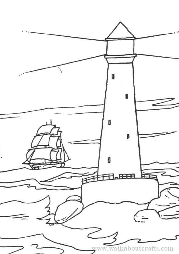 coloring pages lighthouse - photo#28