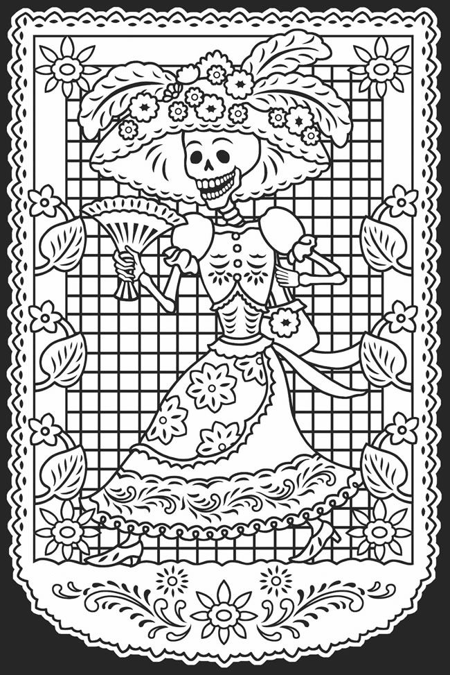12 Pics Of El DIA De Los Muertos Coloring Pages  Sugar Skull