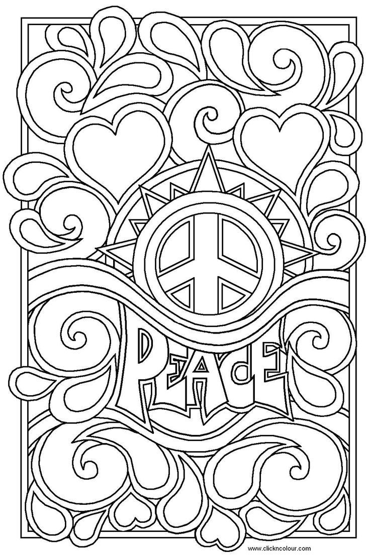 Coloring Pages Of Hearts For Teenagers Difficult - Coloring Home