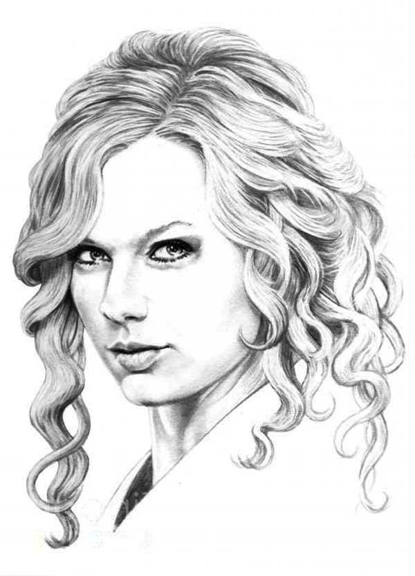 It's just a graphic of Massif Taylor Swift Coloring Page