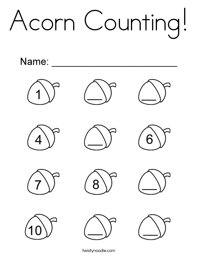 Coloring Pages Of Acorns - Coloring Home