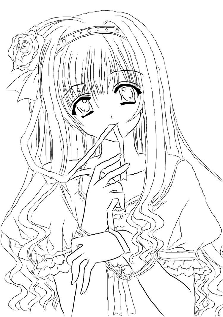 Printable Anime Colouring Pages  High Quality Coloring Pages