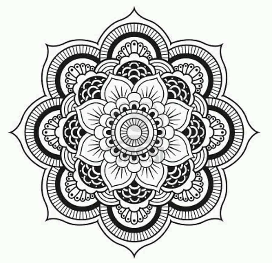 lotus flower mandala coloring pages only coloring pages - Lotus Flower Coloring Page