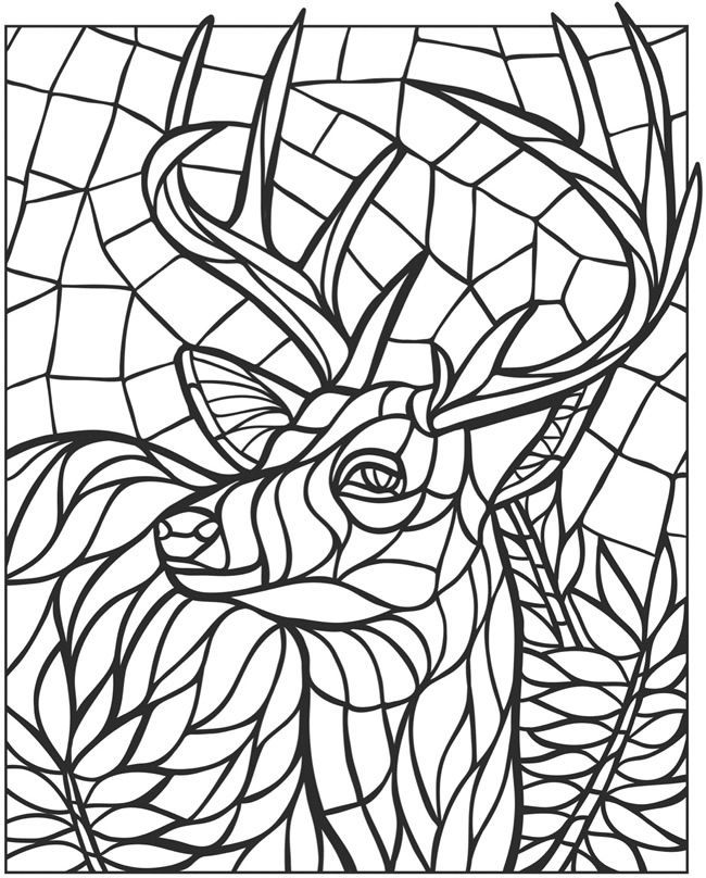 Mosaic Coloring Pages For Adults - Coloring Home