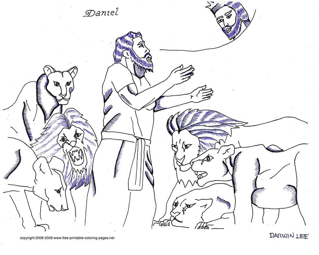 Daniel Lions Den Coloring Pages Pre Colorine 2685