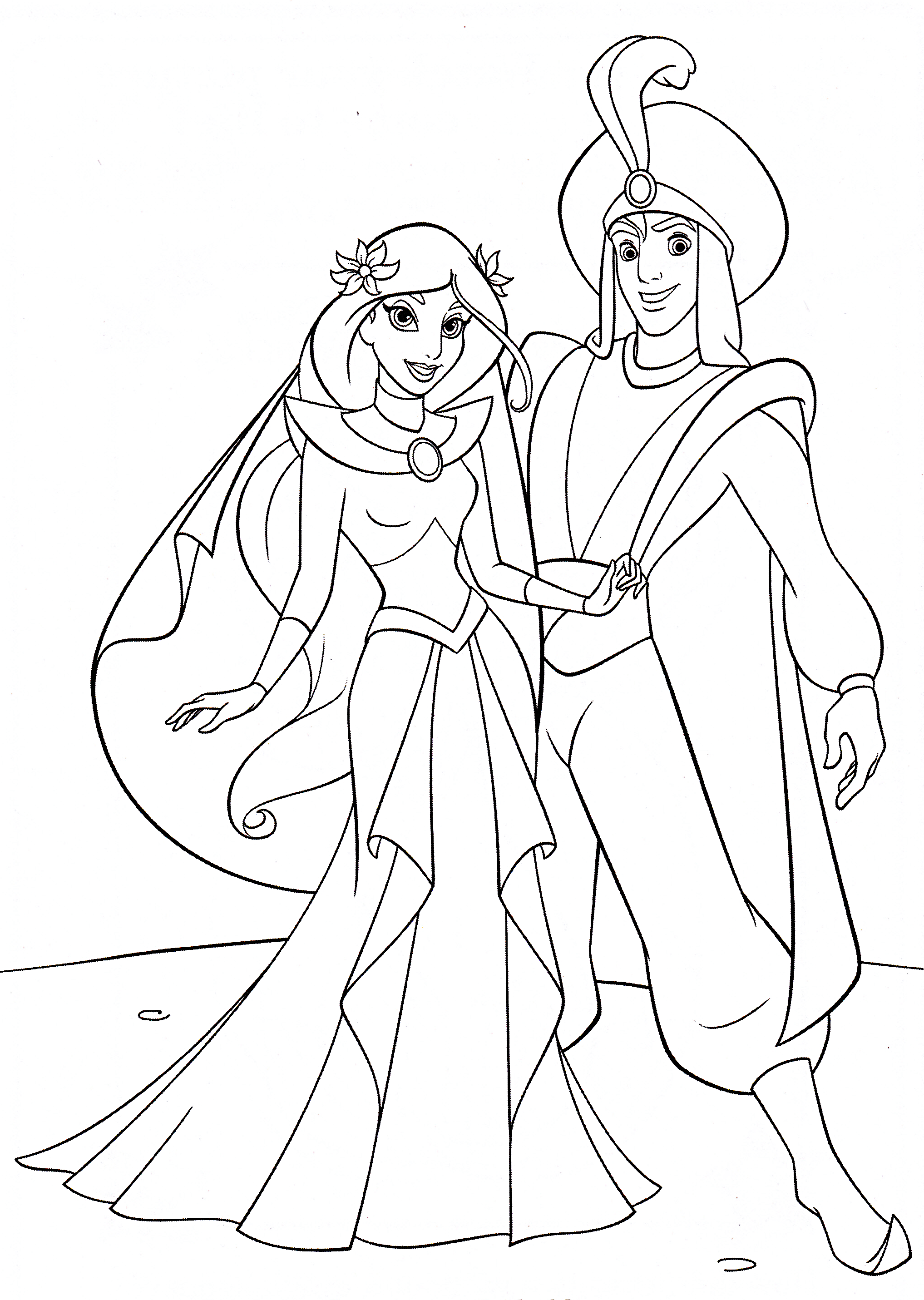Colouring Pages Disney Jasmine : Disney princess coloring pages jasmine home