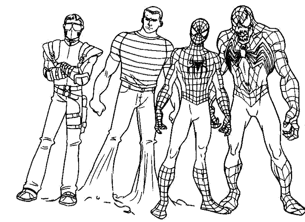 Spiderman Vs Venom Coloring Pages Printable Kids