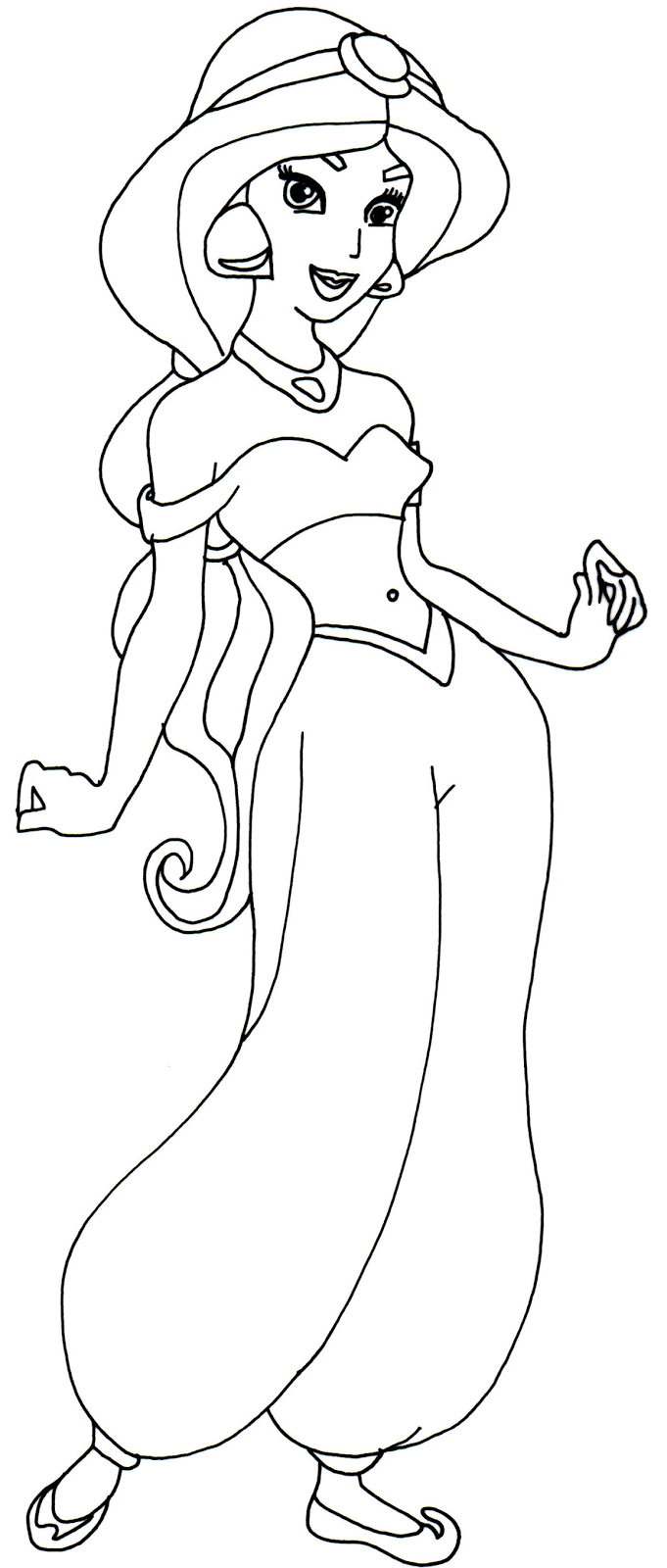 Princess Jasmine Coloring Pages Printable - Coloring Page - Coloring ...