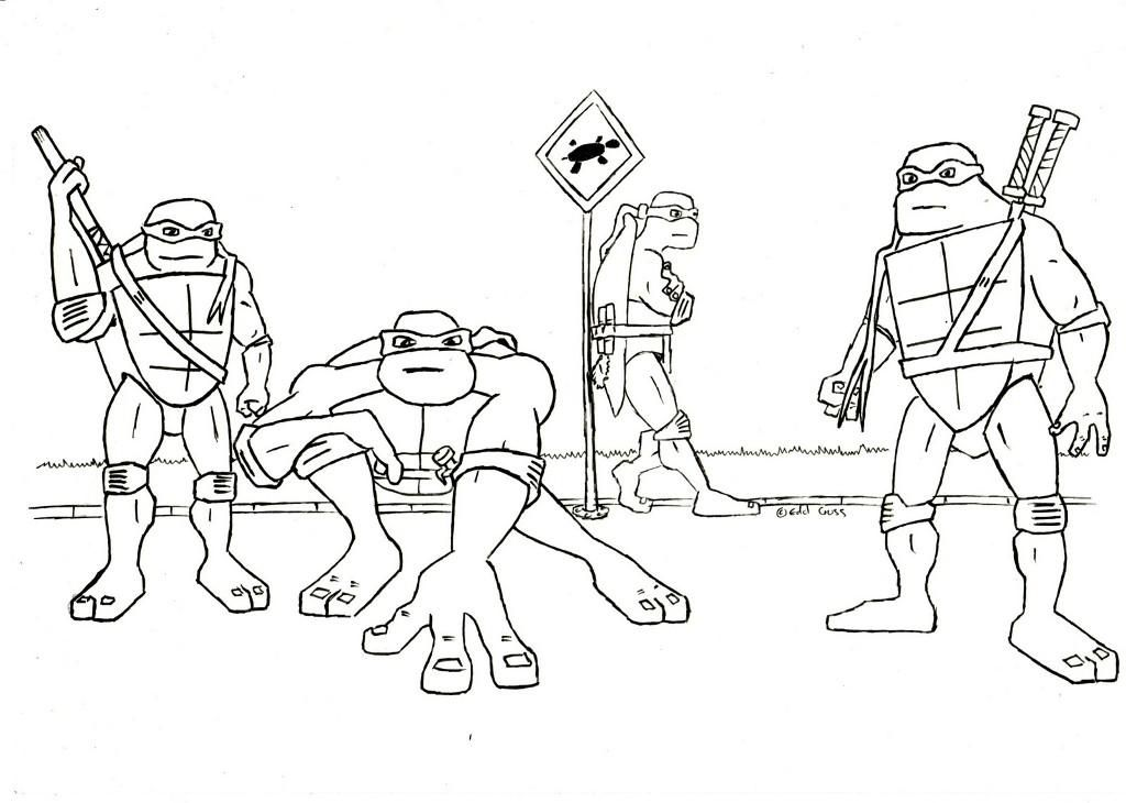 Tmnt Coloring Pages Printable Free