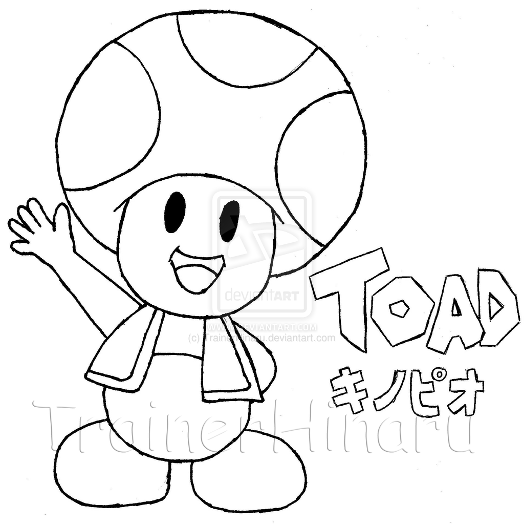9 Pics Of Super Mario Toad Coloring Pages Toad From Mario Coloring Home