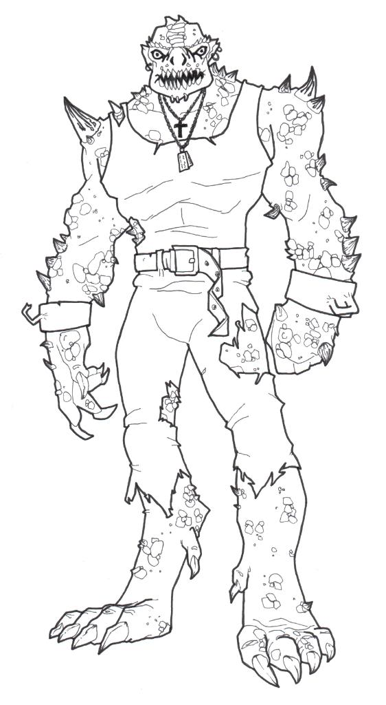 Killer Croc Coloring Pages Coloring Home