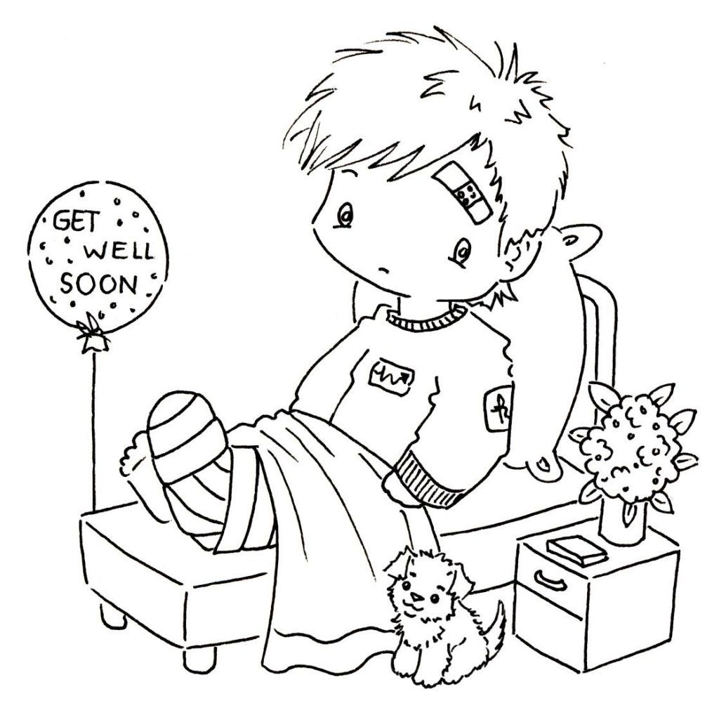 Feel Better Cards Coloring SheetsBetterPrintable Coloring Pages