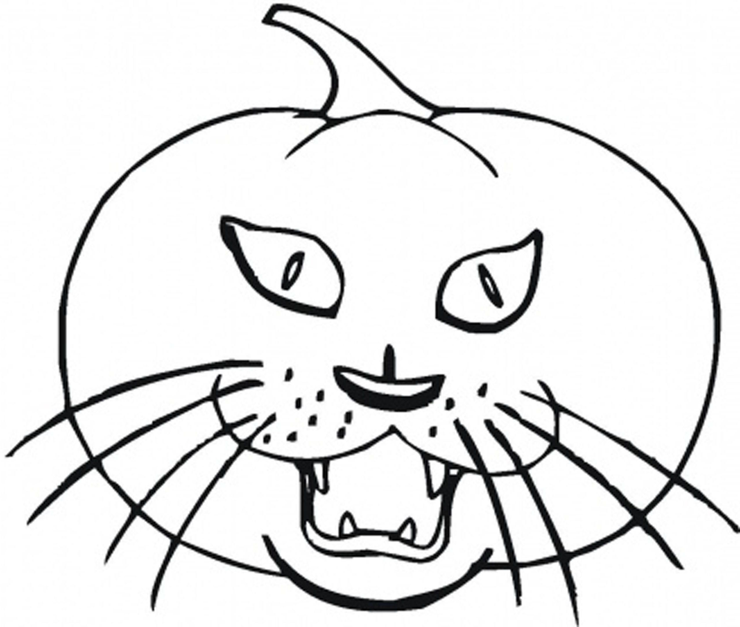 Black Cat For Halloween Coloring Pages To Print Coloring
