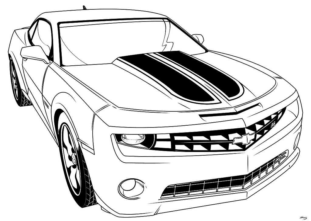 transformer bumblebee car coloring pages - photo#4