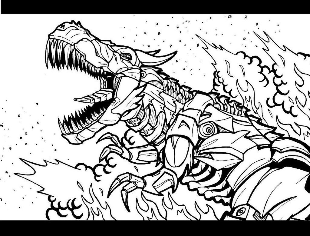 transformers coloring pages grimlock coloring - photo#5