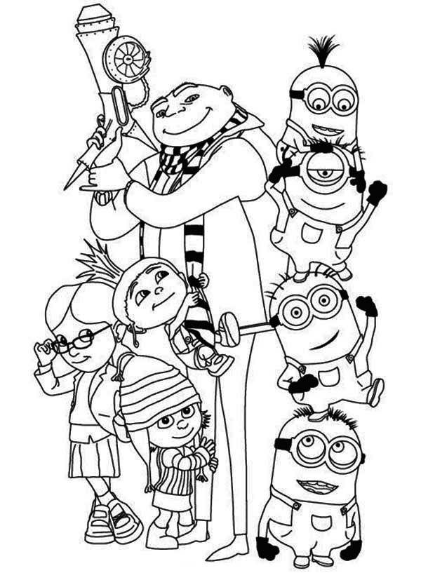 10 Pics Of Girl Minion Coloring Pages Printable