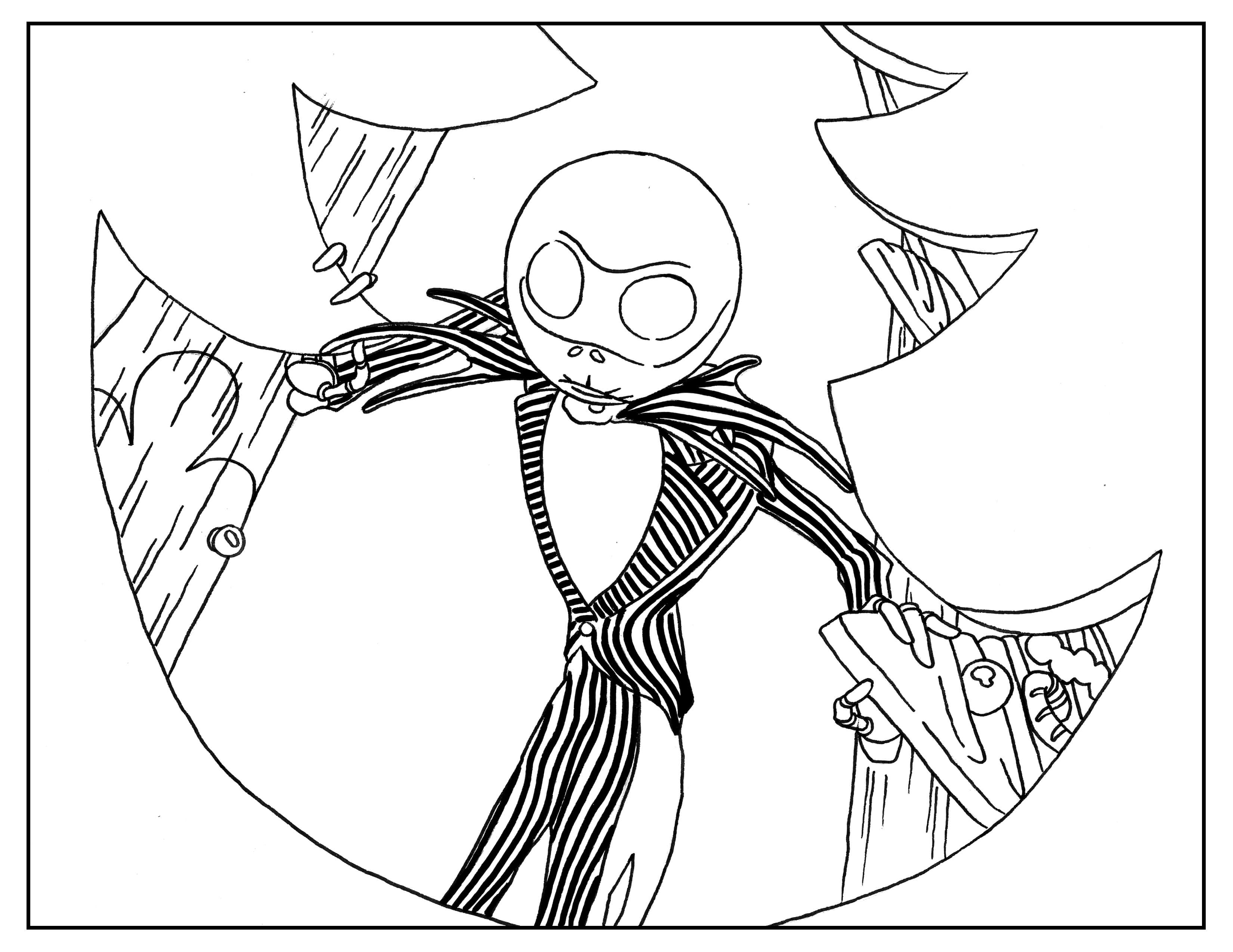 Nightmare Before Christmas Characters Coloring Pages