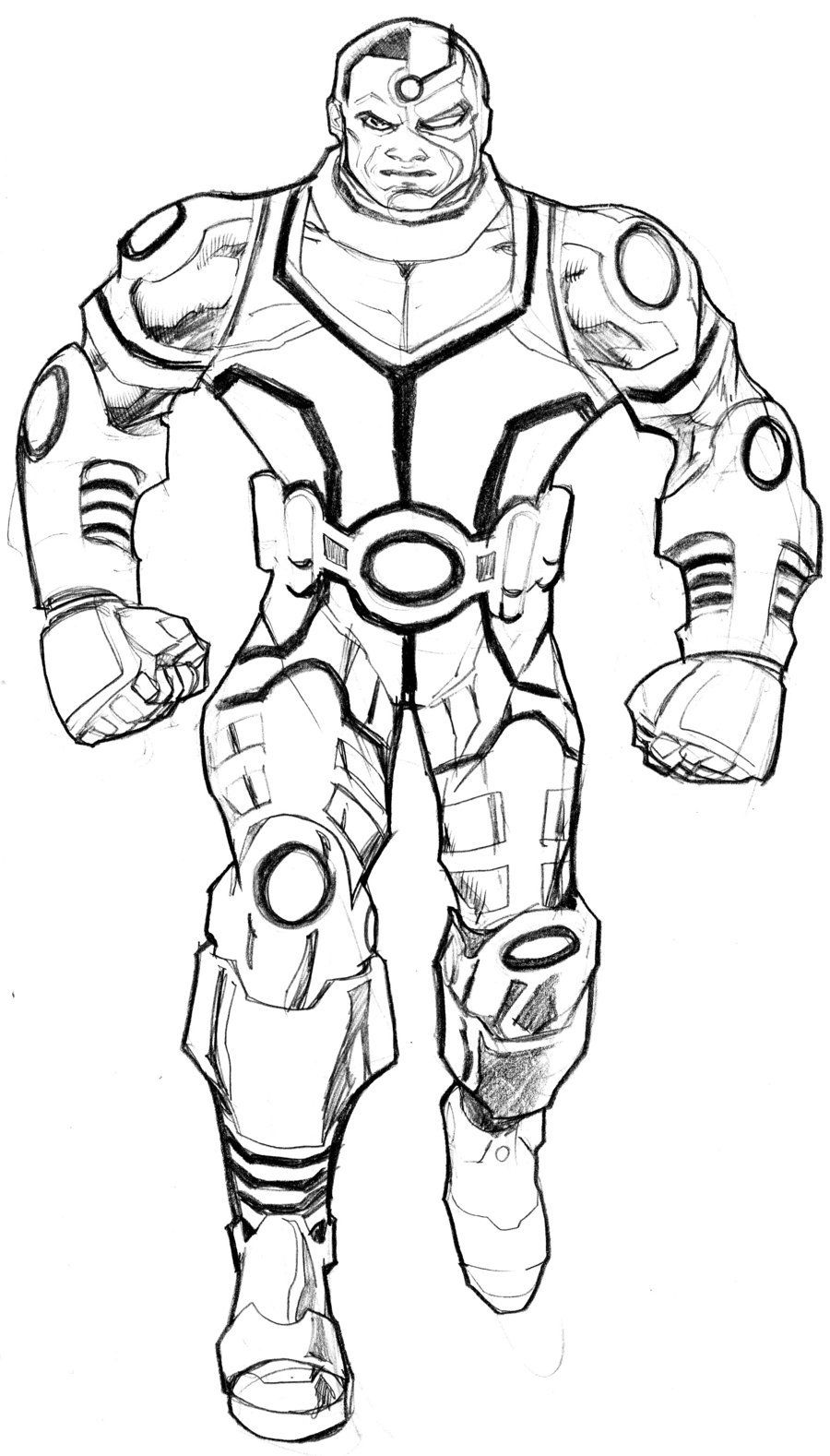 Cyborg Coloring Pages