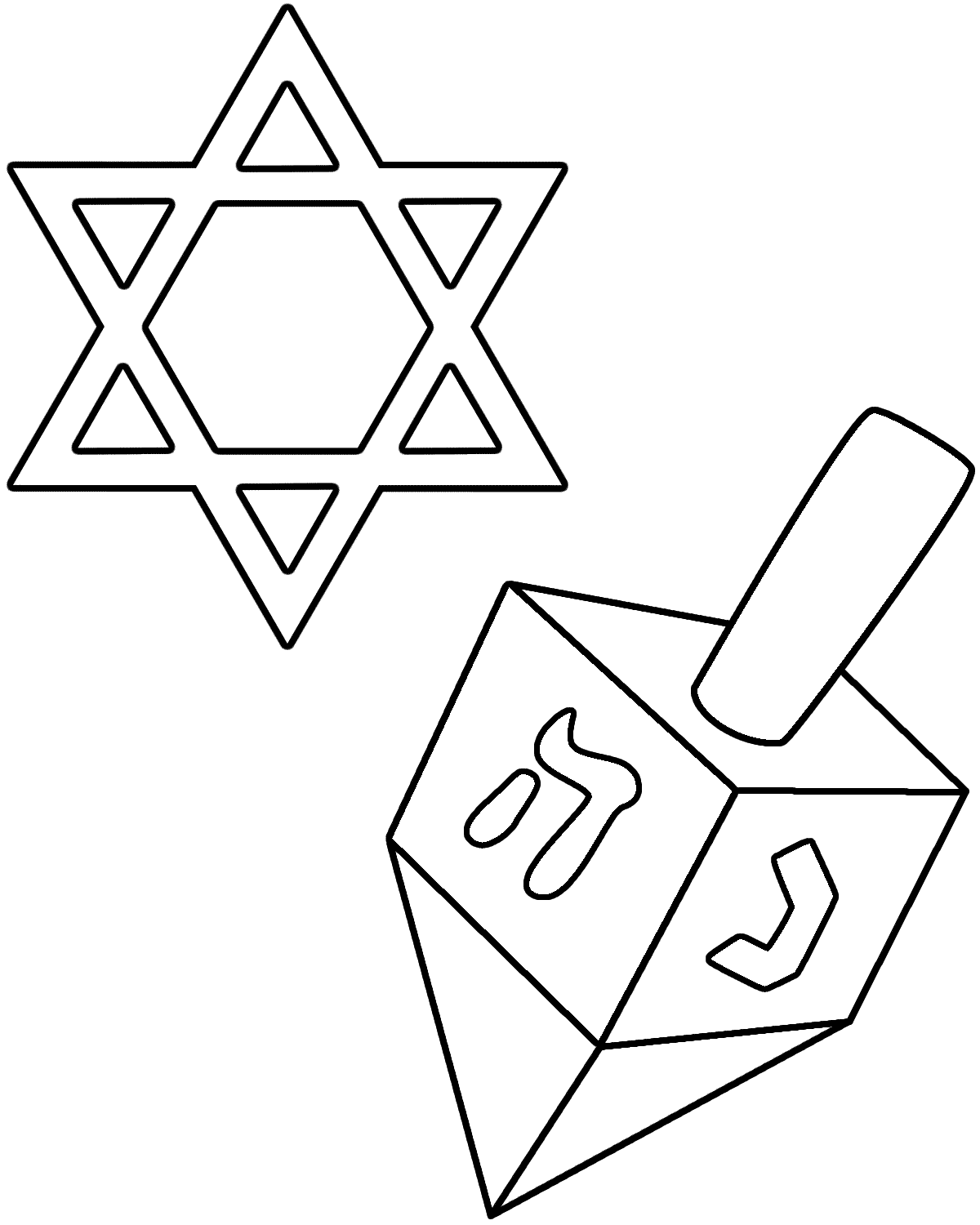 hanukkah story and coloring page az coloring pages