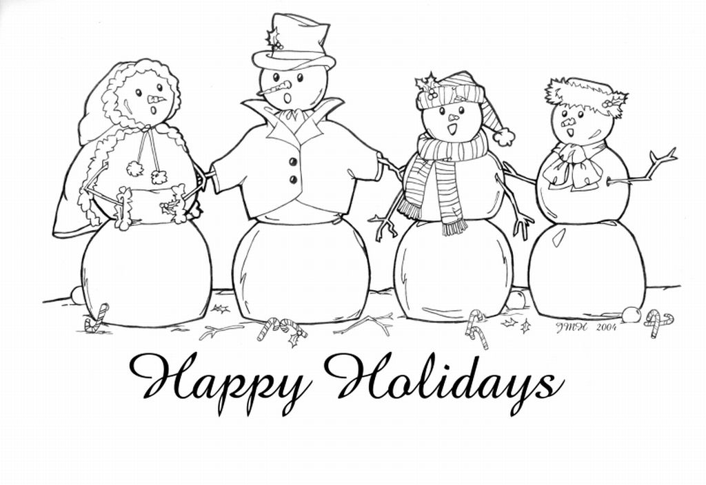 Colouring Pages Holidays : Happy Holidays Coloring Page Coloring Home