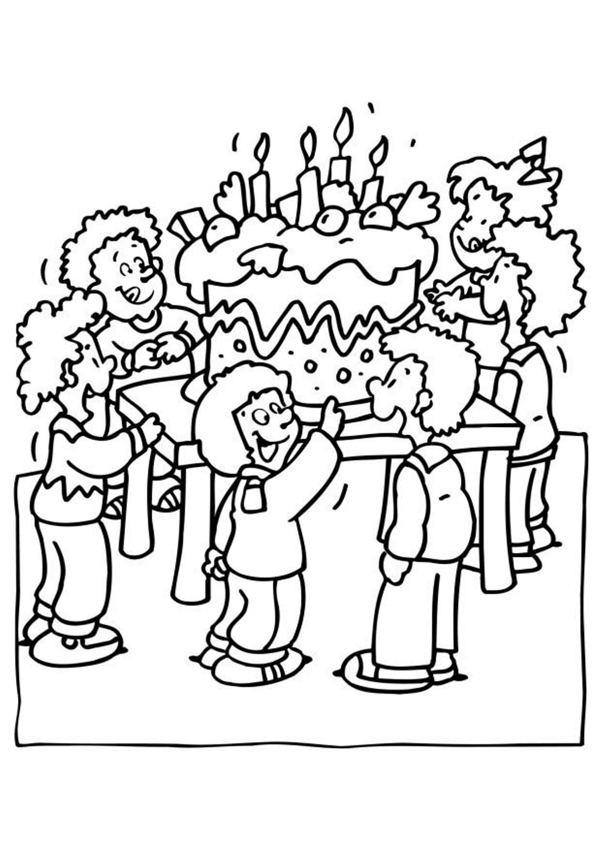 My little pony birthday party coloring pages - Party Birthday Coloring Pages For Kids Birthday Coloring Pages