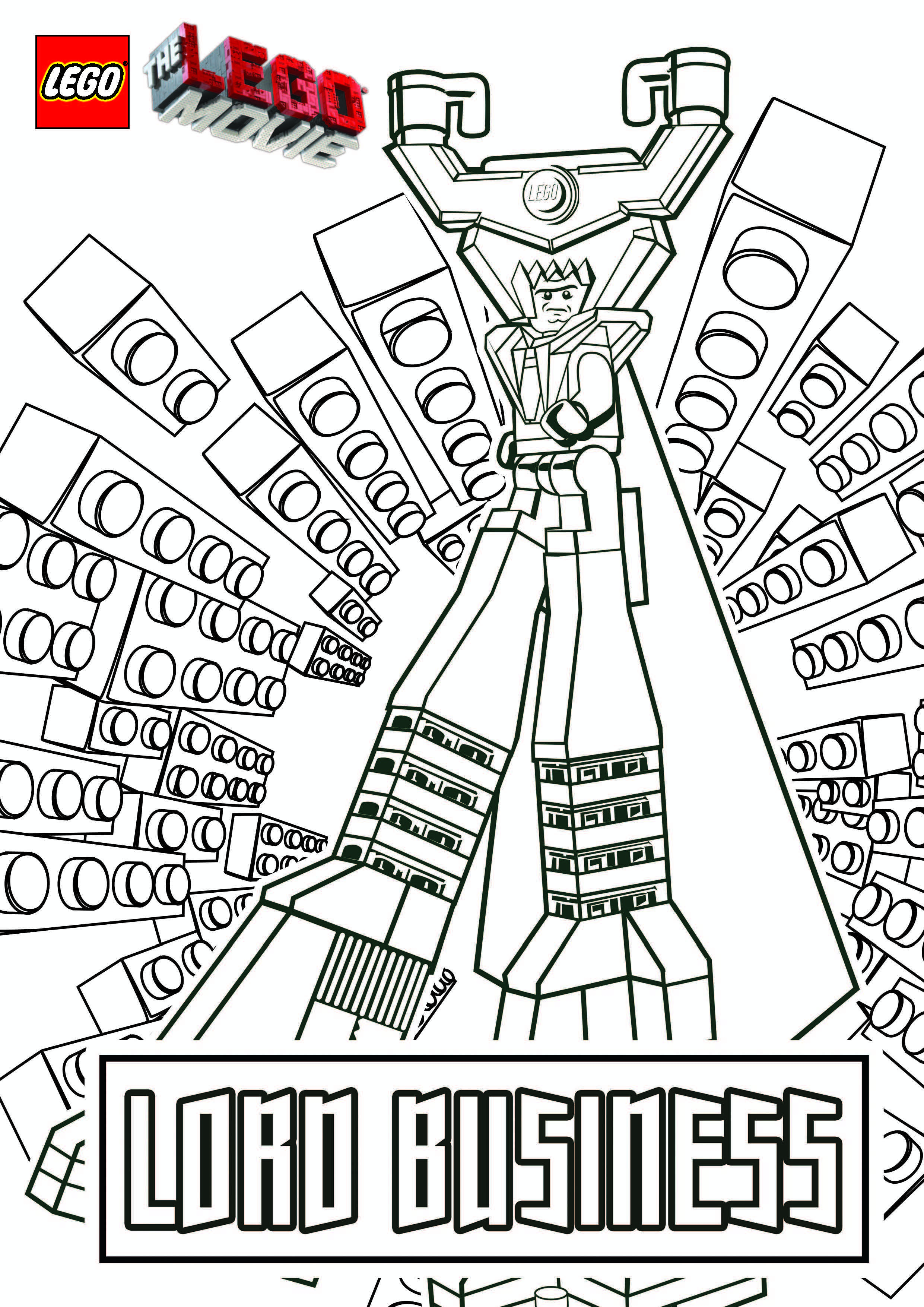 Lego Movie Printables - Coloring Pages for Kids and for Adults