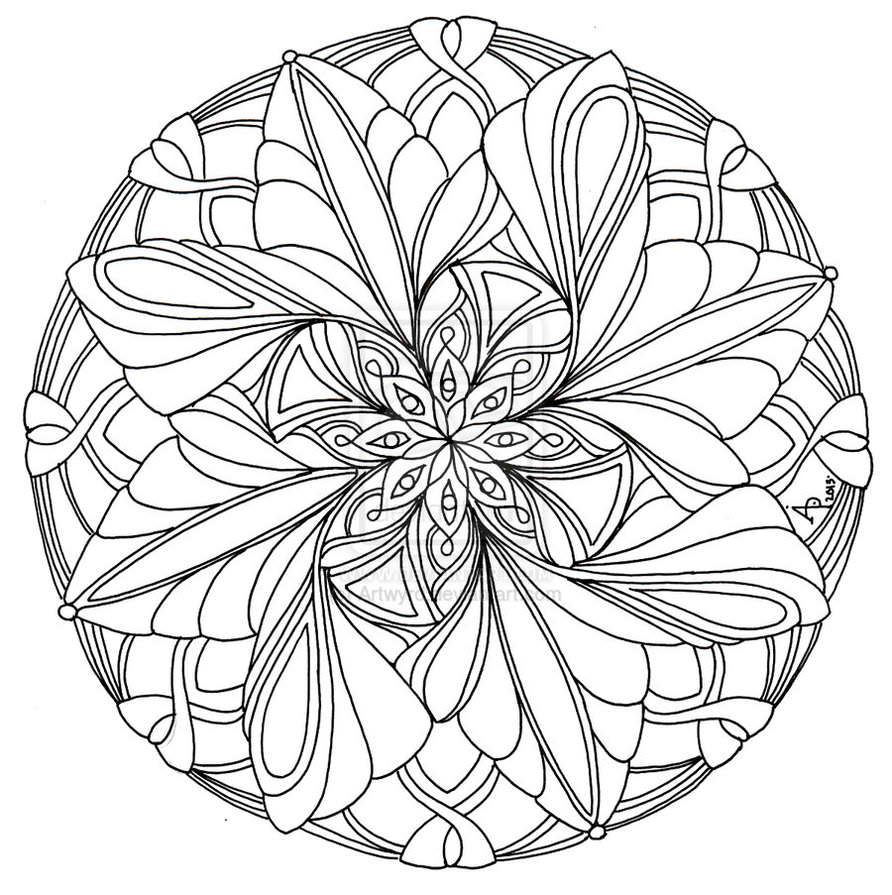 Mandala Coloring Pages Advanced Level Printable Az Advanced Mandala Coloring Pages