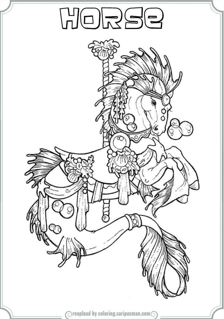 coloring pages carousel horse - photo#36