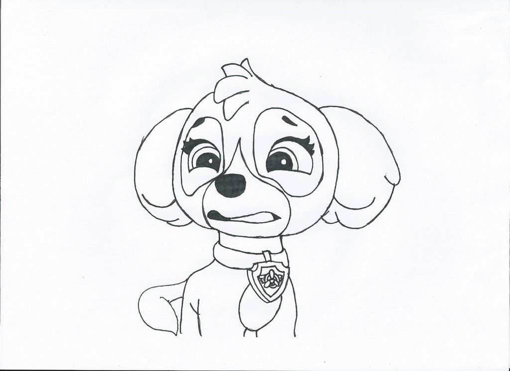 Skye Paw Patrol Coloring Page - Coloring Home