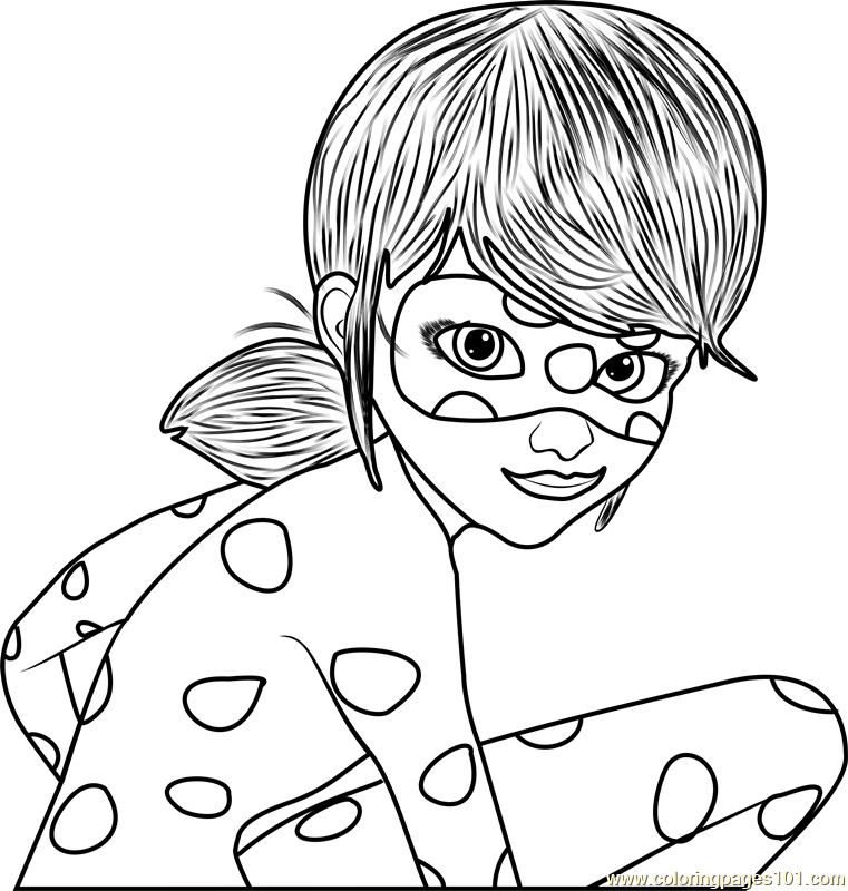 Ladybug Coloring Page - Free Miraculous Ladybug Coloring Pages ...