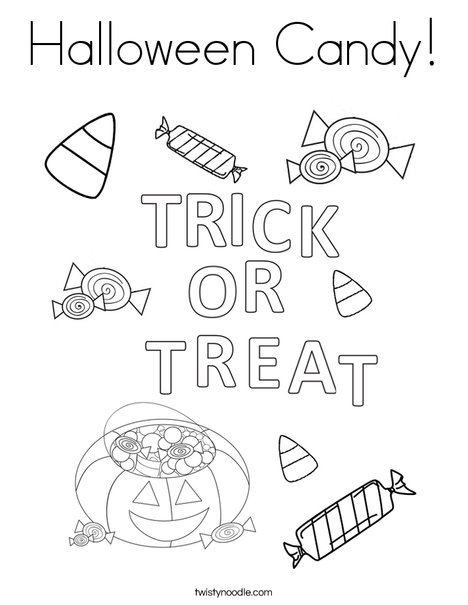 Halloween Candy Coloring Page - Twisty Noodle