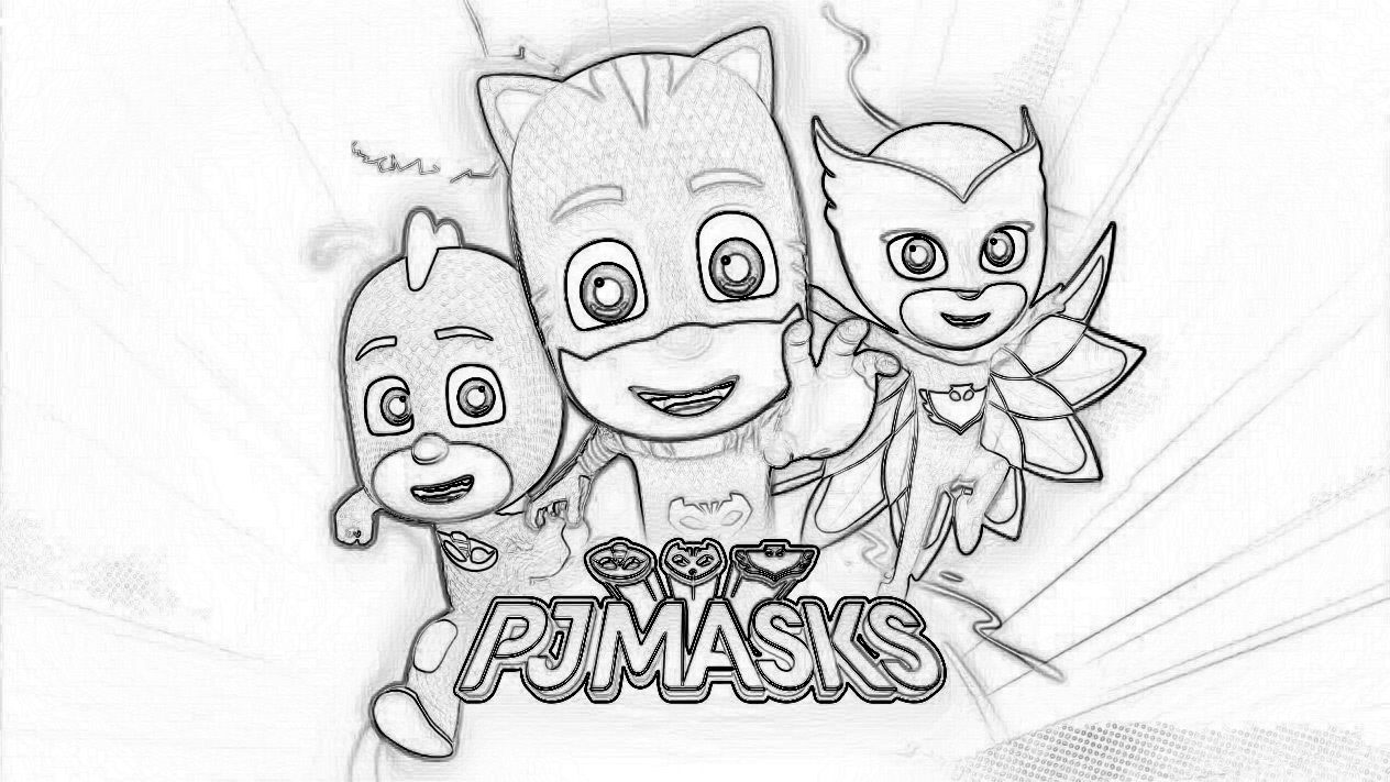 pj masks coloring page - Pj Masks Coloring Pages