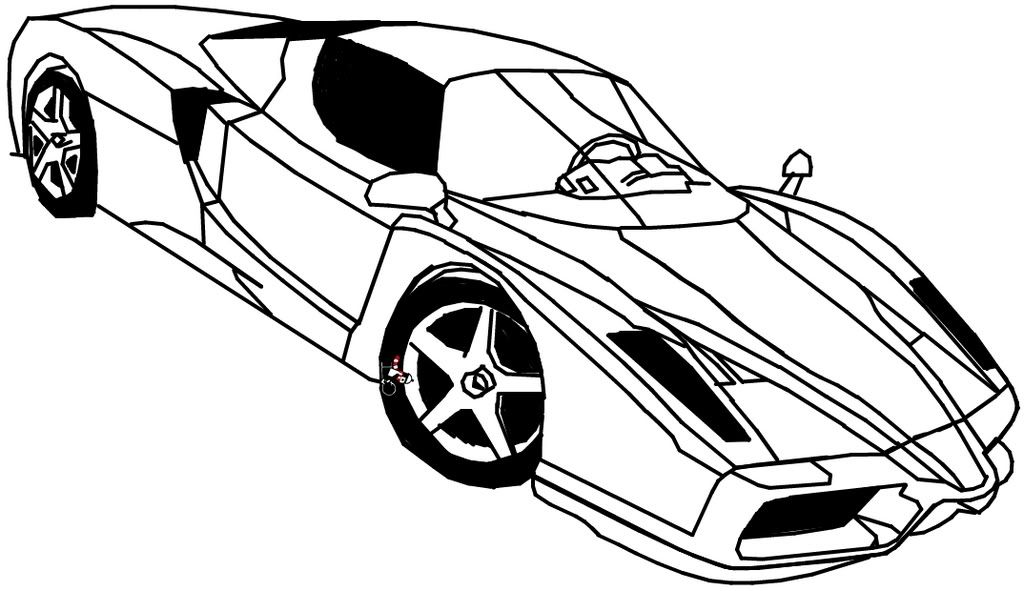 Colouring Pages Ferrari Car : Ferrari coloring pages home
