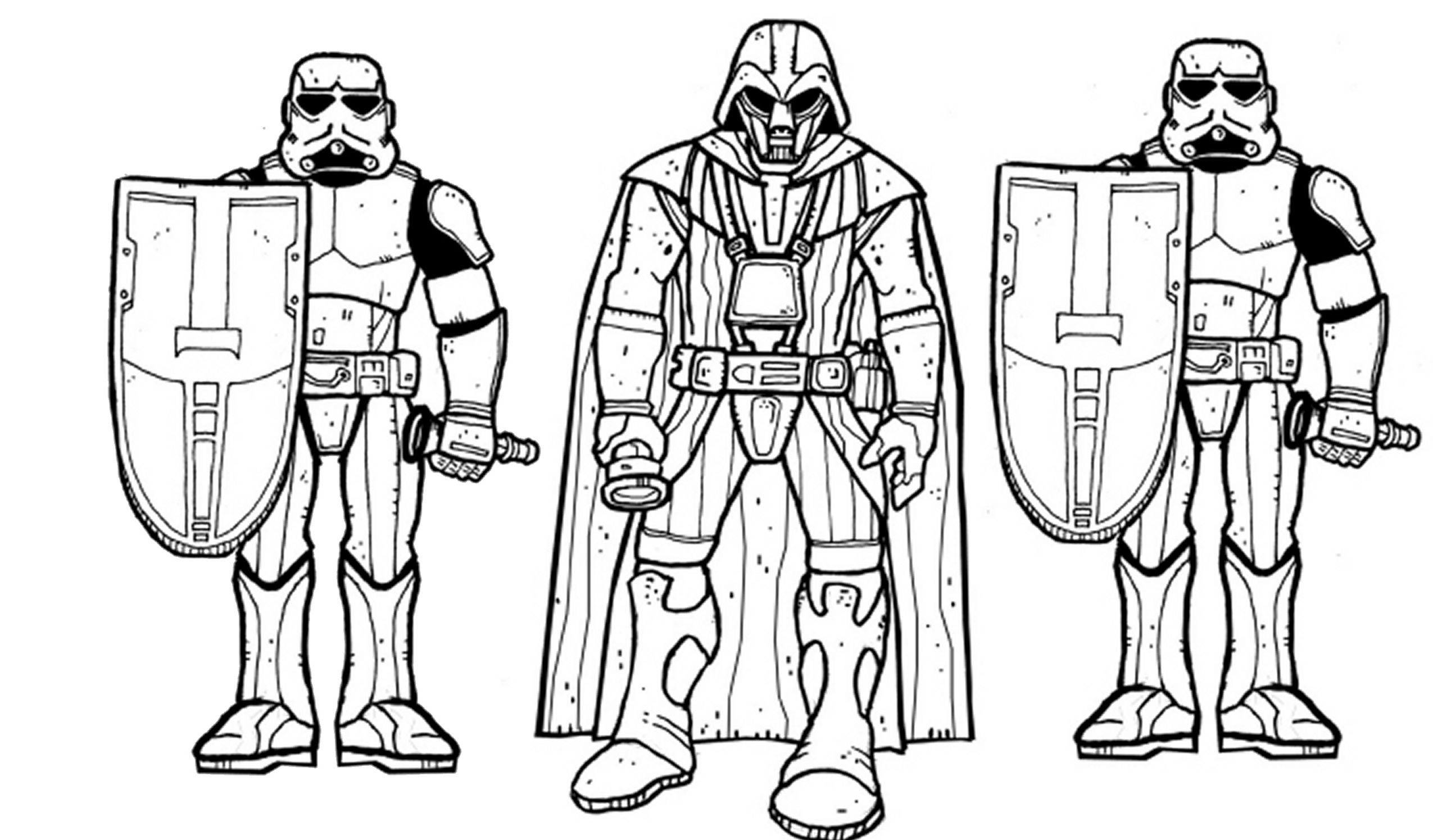 Darth Vader And Storm Troopers Coloring Pages Coloring Pages For ...