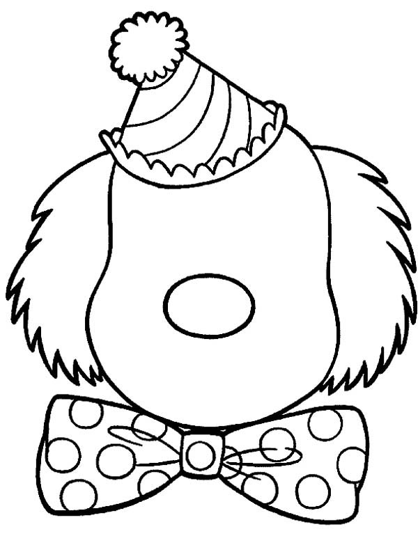 clown faces coloring pages - photo#7