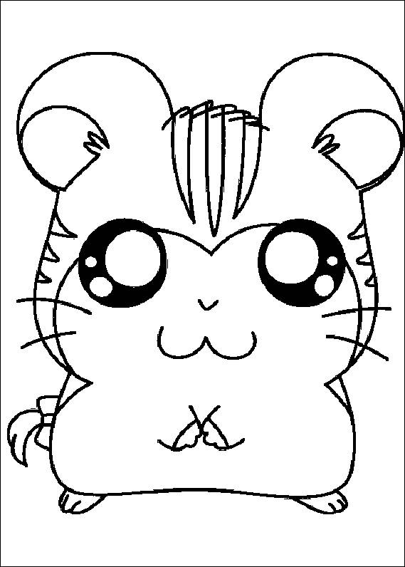 Cute Hamster Coloring Pages - Coloring Home