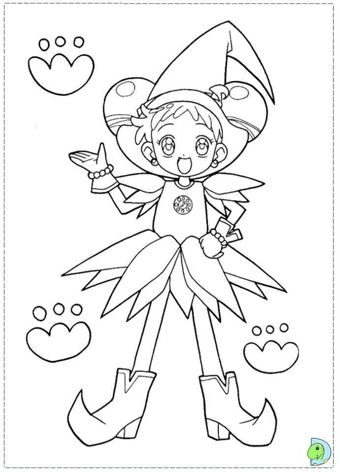 Magical Doremi Coloring Page Dinokids Org Coloring Home