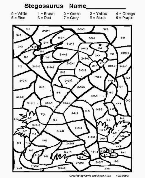 subtraction coloring pages - photo#9