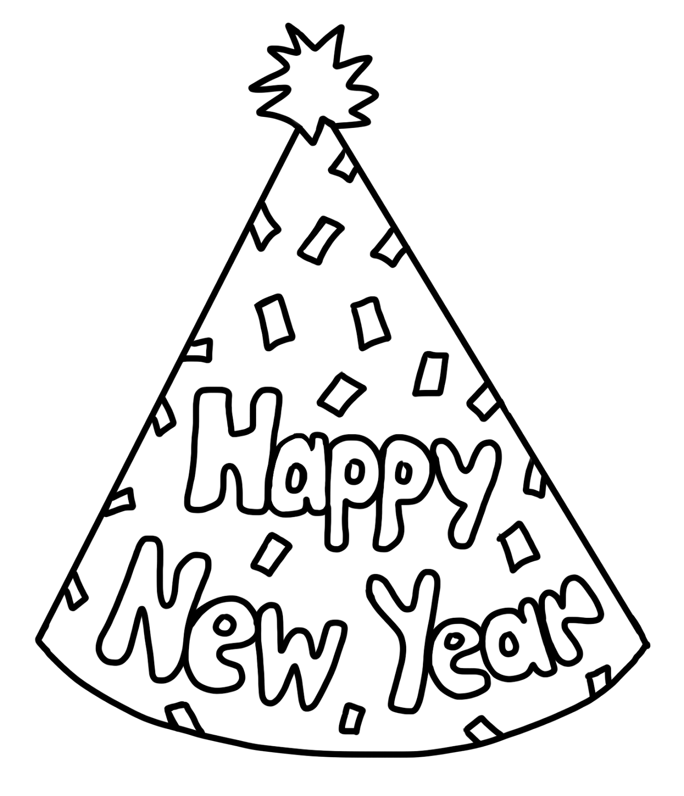 happy new year 2017 coloring pages coloring home
