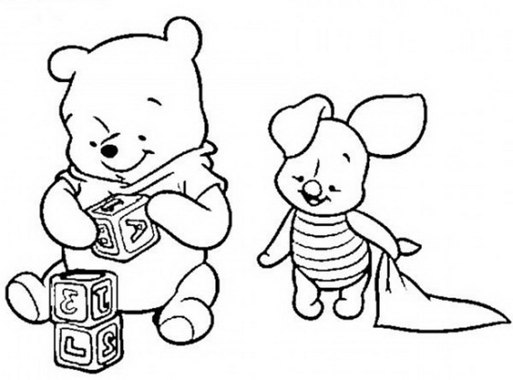 Crawl Clipart - Baby Pooh Coloring Pages Page 2 Disney Winnie The ... | 776x1048