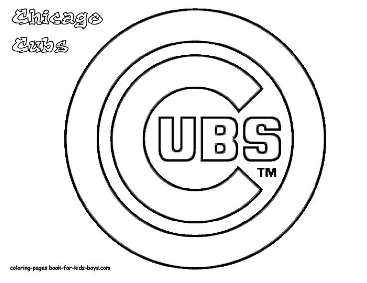 Cubs Logo And World Seris Coloring Pages