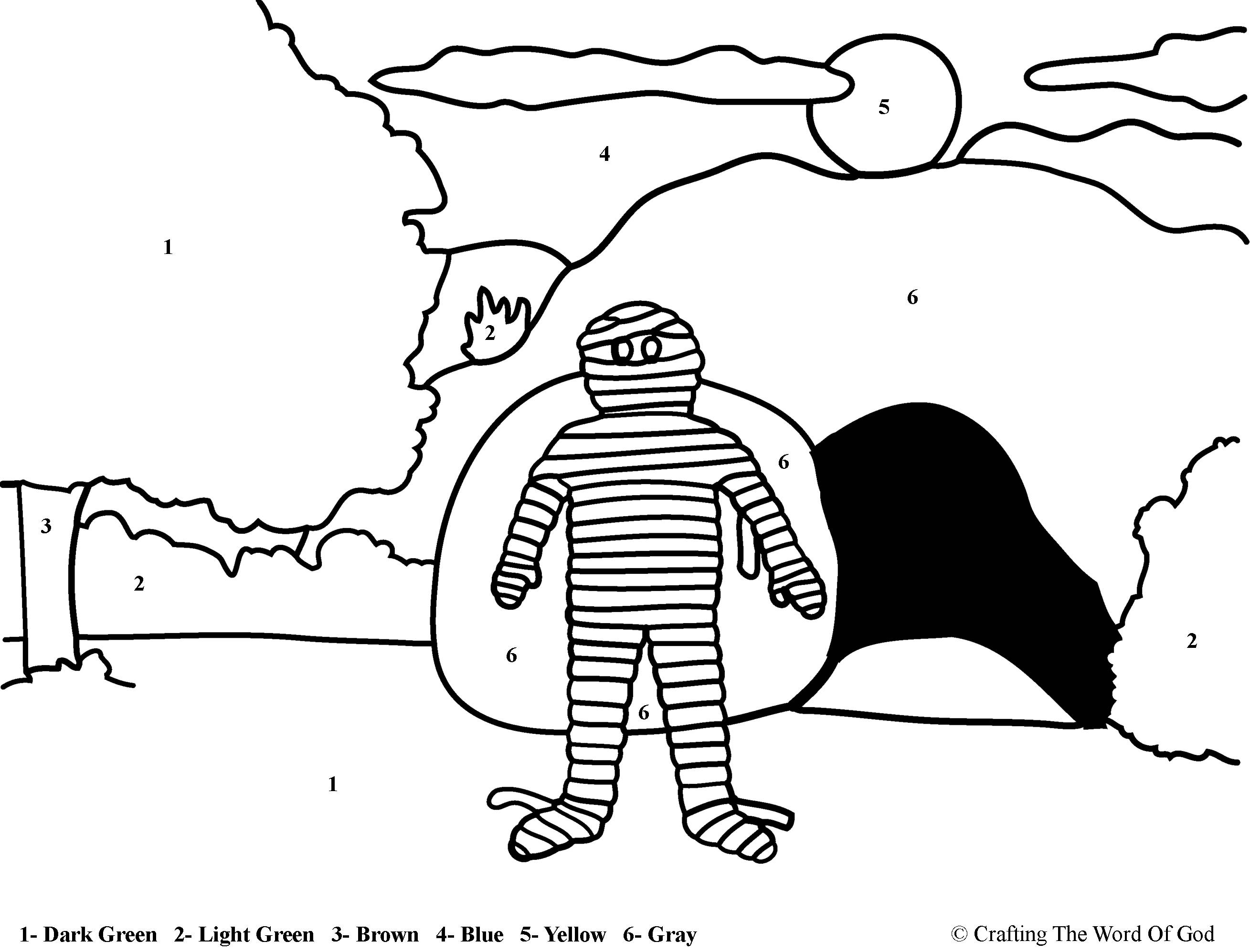 8 Pics Of Jesus And Lazarus Coloring Page