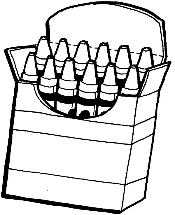 Box Crayons Coloring Pages For Kids Best Place To Color Coloring Home