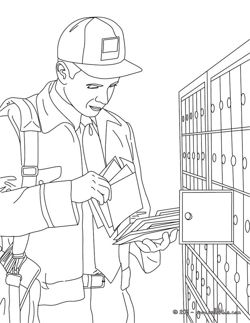 10 Pics of Printable Coloring Page Of Post Office - Post Office ...