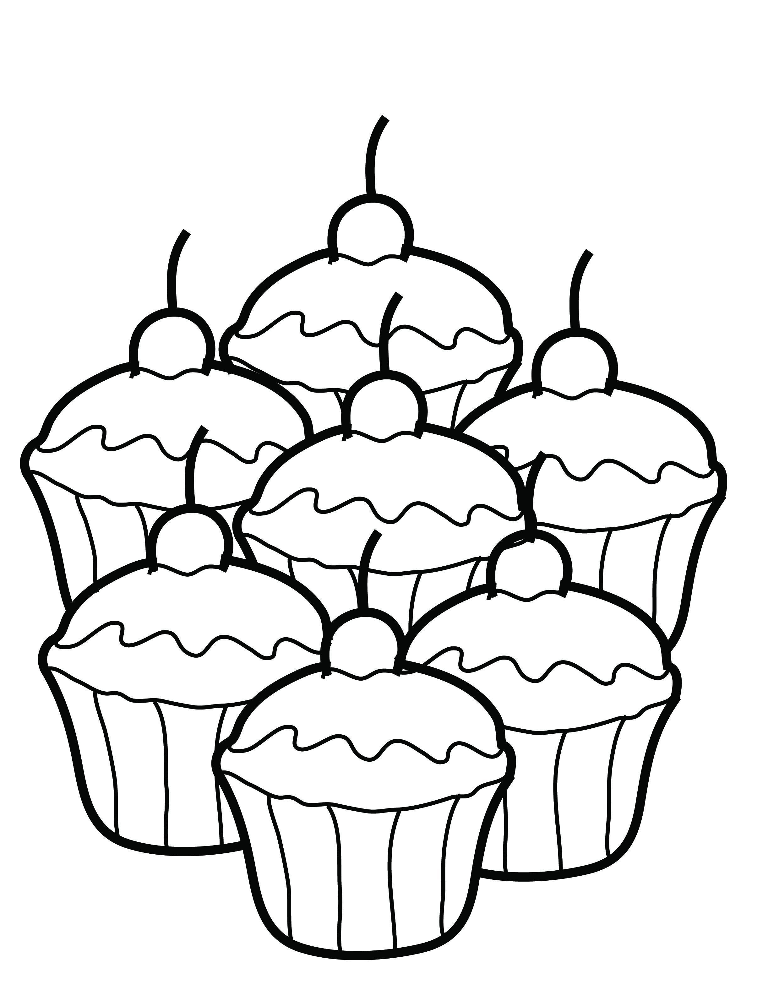 Muffin Coloring Page Coloring Home Muffin Coloring Page
